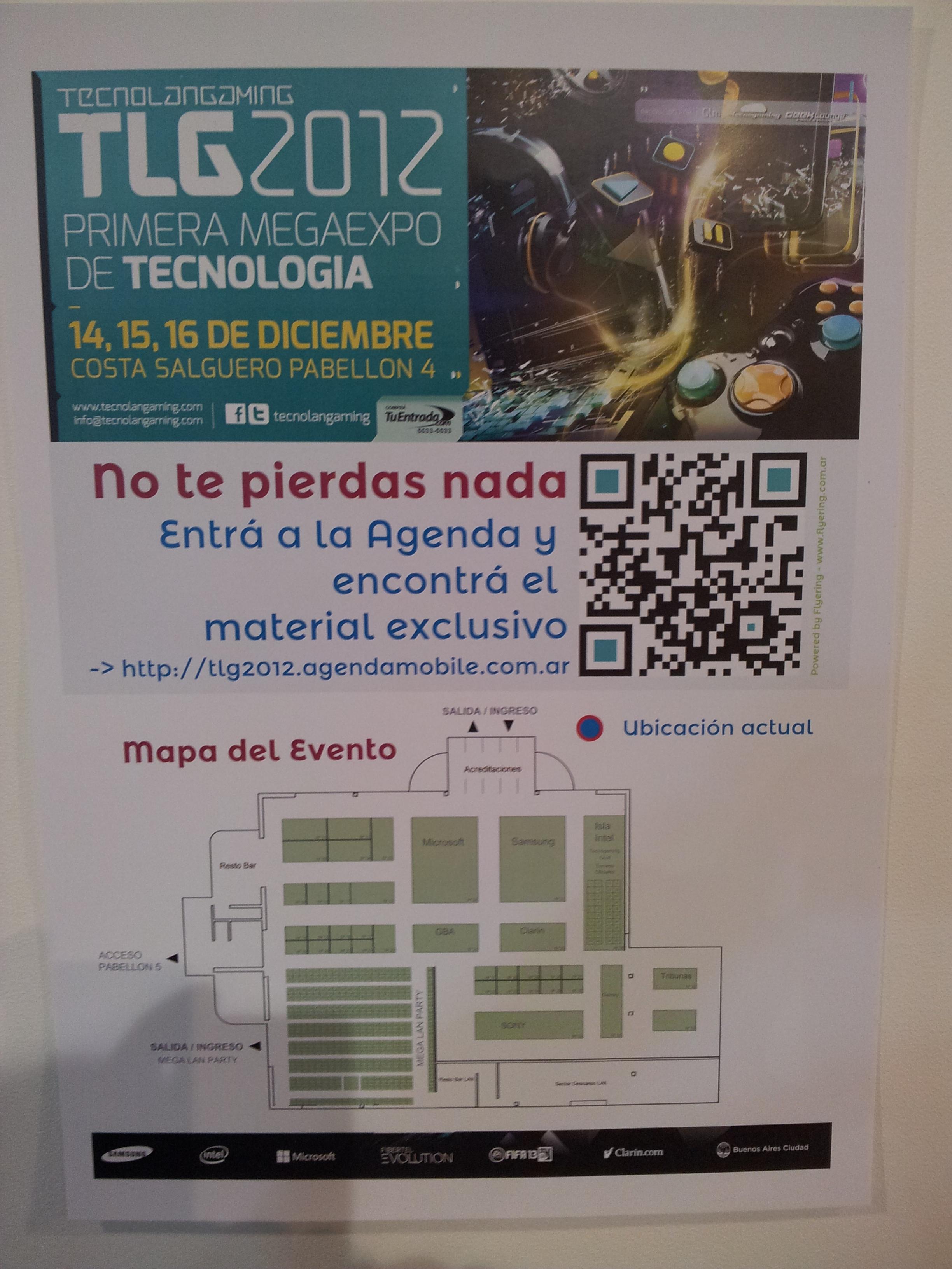 Detalle del cartel de acceso al Kronos de la TLG2012.